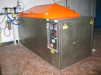 Salt spray test - A salt spray cabinet