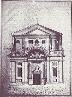 English College, Rome - Drawing by Pozzo