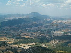 Sabiñánigo - View of Sabiñánigo from Mount Santa Orosia