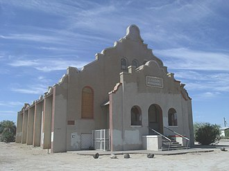 Sacaton, Arizona - The C. H. Cook Memorial Church, listed in the National Register of Historic Places