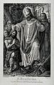 Saint Boniface. Engraving by H. Kipp after K. Clasen. Wellcome V0031743.jpg