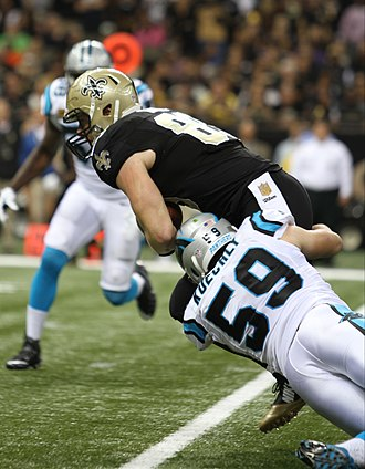 Luke Kuechly - Kuechly playing against the New Orleans Saints in 2015.