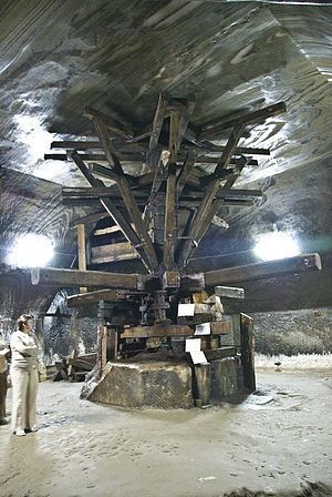 Salina Turda - The crivac is one of the main points of interest in the salt mine.