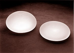 Breast implant - Saline-solution-filled breast implant device models.