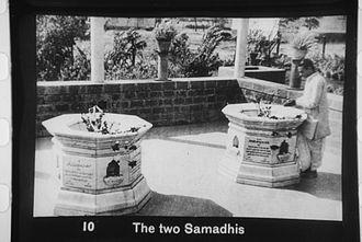 Mahadev Desai - Samadhis of Kasturba Gandhi and Mahadev Desai at Aga Khan Palace, Pune