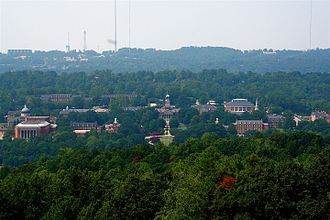 Samford University - Bird's-eye view of the campus