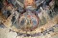 San lorenzo in insula, cripta di epifanio, affreschi di scuola benedettina, 824-842 ca., madonna in trono bendicente e sei angeli con scettro e globo 09.jpg