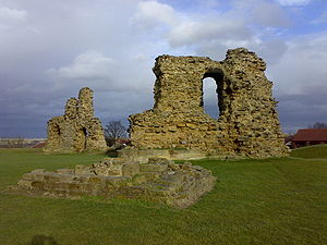 Sandal Castle - A view of the remaining wall at Sandal Castle.