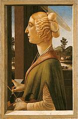 Bildnis einer Dame mit den Attributen der hl. Katharina