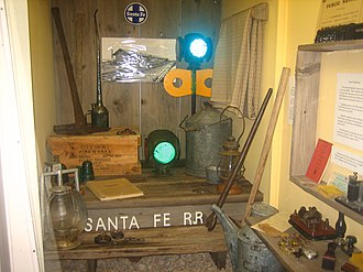 Hutchinson County Historical Museum - Image: Santa Fe Railroad exhibit at Boomtown Revisited Picture 2116
