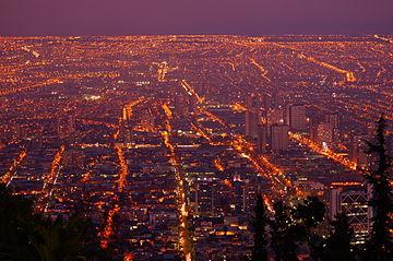 Ночной вид Сантьяго