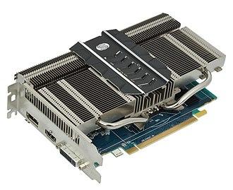 Radeon HD 7000 Series - A Radeon HD 7750 card, using a fanless design.