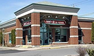 Société des alcools du Québec - A suburban SAQ store.