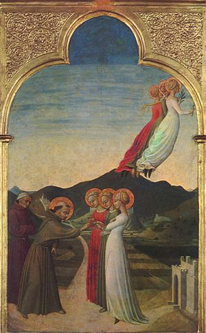 Mystic Marriage of St. Francis (Sassetta) - Image: Sassetta 002
