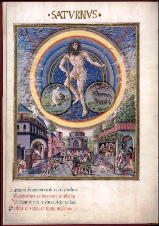 Saturnus - De Sphaera - Biblioteca Estense lat209