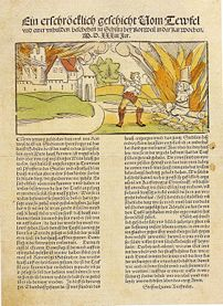 1533 account of the execution of a witch charg...