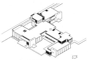 Schindler House - Isometric drawing