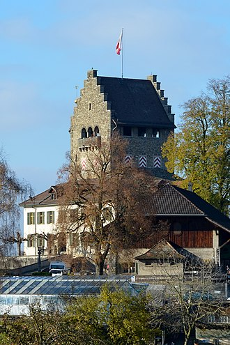 Uster Castle - distant view as from towards Oberuster