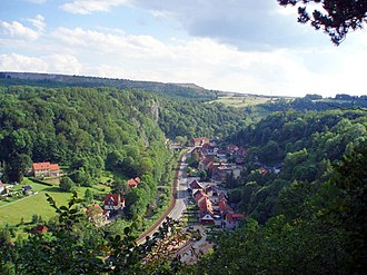 Rübeland - View from Schornsteinberg of the village