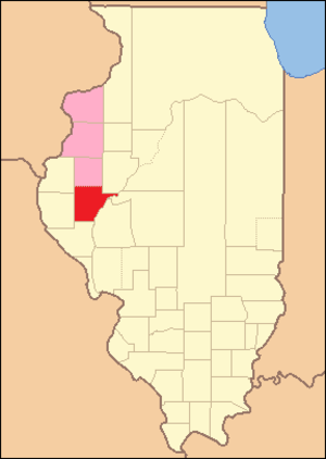 Schuyler County, Illinois - Image: Schuyler County Illinois 1825