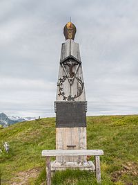 Schwarzenberg Memorial on the peak of Plattenkogel Mountain