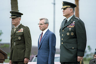 Norman Schwarzkopf Jr. - Schwarzkopf (right) takes command of United States Central Command in November 1988