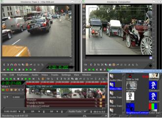 Cinelerra - Cinelerra 2.1 being used to edit footage in a video project