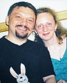 Sculptor G.Stolbchenko and his wife Lena-2006.jpg
