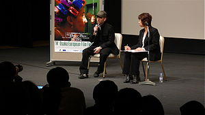 Sean Ellis - Ellis (left) at the Osaka European Film Festival.