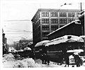 Seattle, looking east on Pike St from 5th Ave showing street railroad cars after the big snow of 1916, Seattle (WARNER 184).jpeg