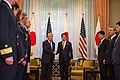 Secretary of Defense Hagel Greets Japan's Prime Minister Abe - Flickr - East Asia and Pacific Media Hub (1).jpg