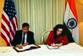 Sekhar Basu signs the cooperation MoU with Director, NSF, USA.jpg
