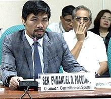 Senator Manny Pacquiao.