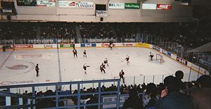 Ottawa Senators - The Senators played their home games at the Ottawa Civic Centre from 1992 to 1996.