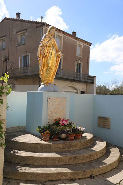 Servian (Hérault) - statue de la Vierge.
