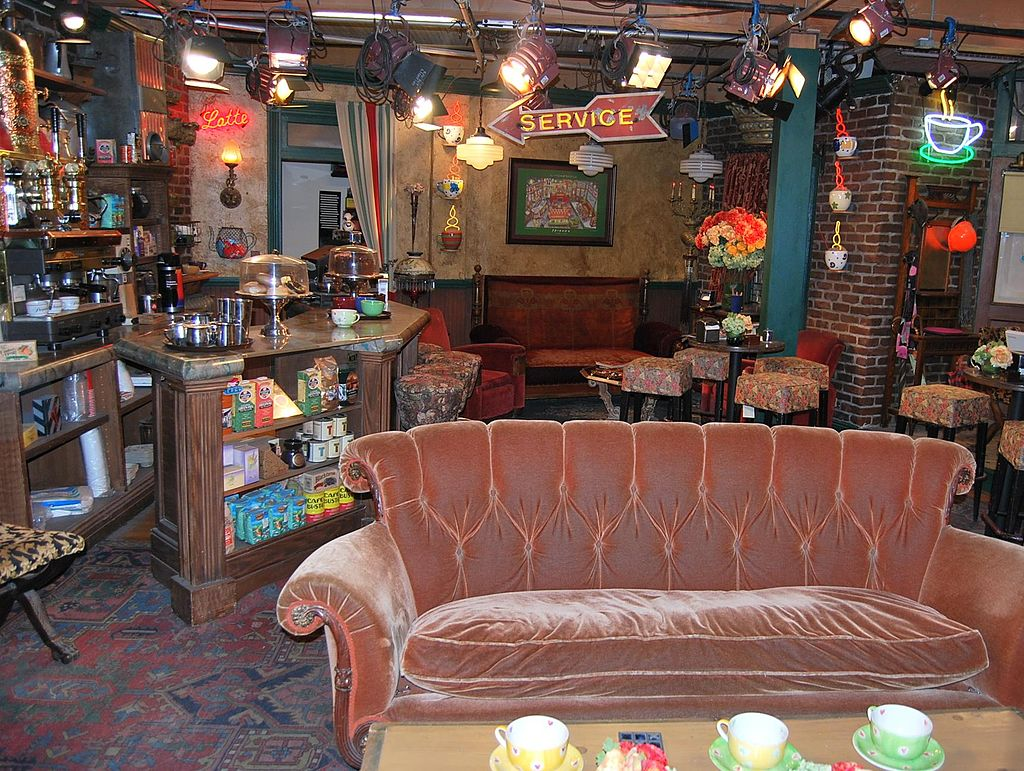 Set of Central Perk – location for many episodes of Friends TV show