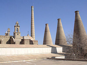 Monastery of Santa Maria de las Cuevas - Monastery of Santa María de las Cuevas The chimney and bottle shaped kilns are the remnants of the ceramics factory