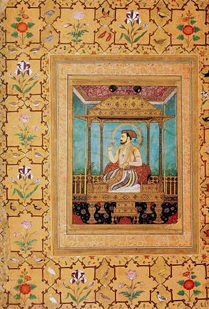 Govardhan (Mughal painter) - Image: Shah Jahan on The Peacock Throne