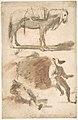 Sheet of Studies- A Horse Above, a Seated Man and a Reclining Man Below MET DP809911.jpg
