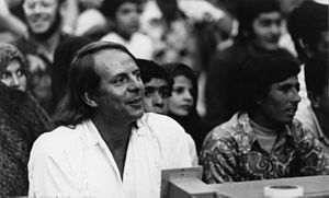 Aus den sieben Tagen - Karlheinz Stockhausen on 2 September 1972 at the Shiraz-Persepolis Festival of Arts, where parts of Aus den sieben Tagen were performed on 7 September (Stockhausen 1978, 158–59)