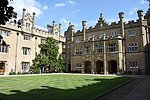 Sidney Sussex College, the buildings surrounding Hall Court and Chapel Court
