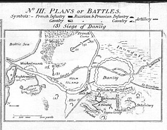 Siege of Danzig (1807) - Plan of the Siege of Danzig