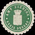 Siegelmarke Amt Ziebigk Kreis Dessau W0367819.jpg