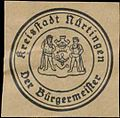 Siegelmarke Der Bürgermeister Kreisstadt Nürtingen W0393873.jpg