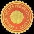 Siegelmarke Der Landtag des Fürstentums Lippe W0350507.jpg