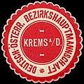 Siegelmarke Deutsch-Österreichische Bezirkshauptmannschaft Krems an der Donau W0261065.jpg