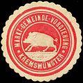 Siegelmarke Markt-Gemeinde-Vorstehung Kremsmünster W0318946.jpg