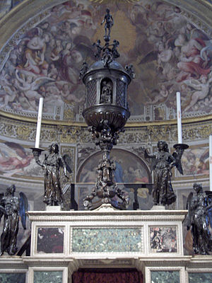 Vecchietta - Altar of the Cathedral of Siena with bronze ciborium by Vecchietta.