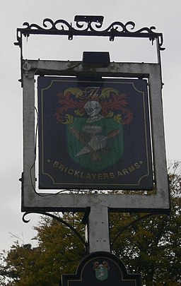 Sign at The Bricklayers Arms - geograph.org.uk - 1536758