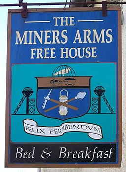 Sign for the Miners Arms, North Molton - geograph.org.uk - 730212